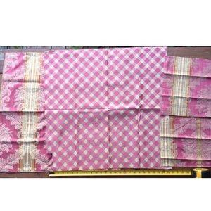 multi Office - 16pcs Fabric Samples Pink Tones Crafting Lot